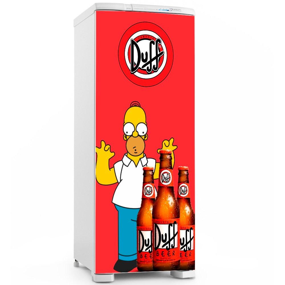 Tricolandia Artesanato Londrina ~ Adesivo Geladeira Duff Homer Simpson Top R$ 66,99 em Mercado Livre