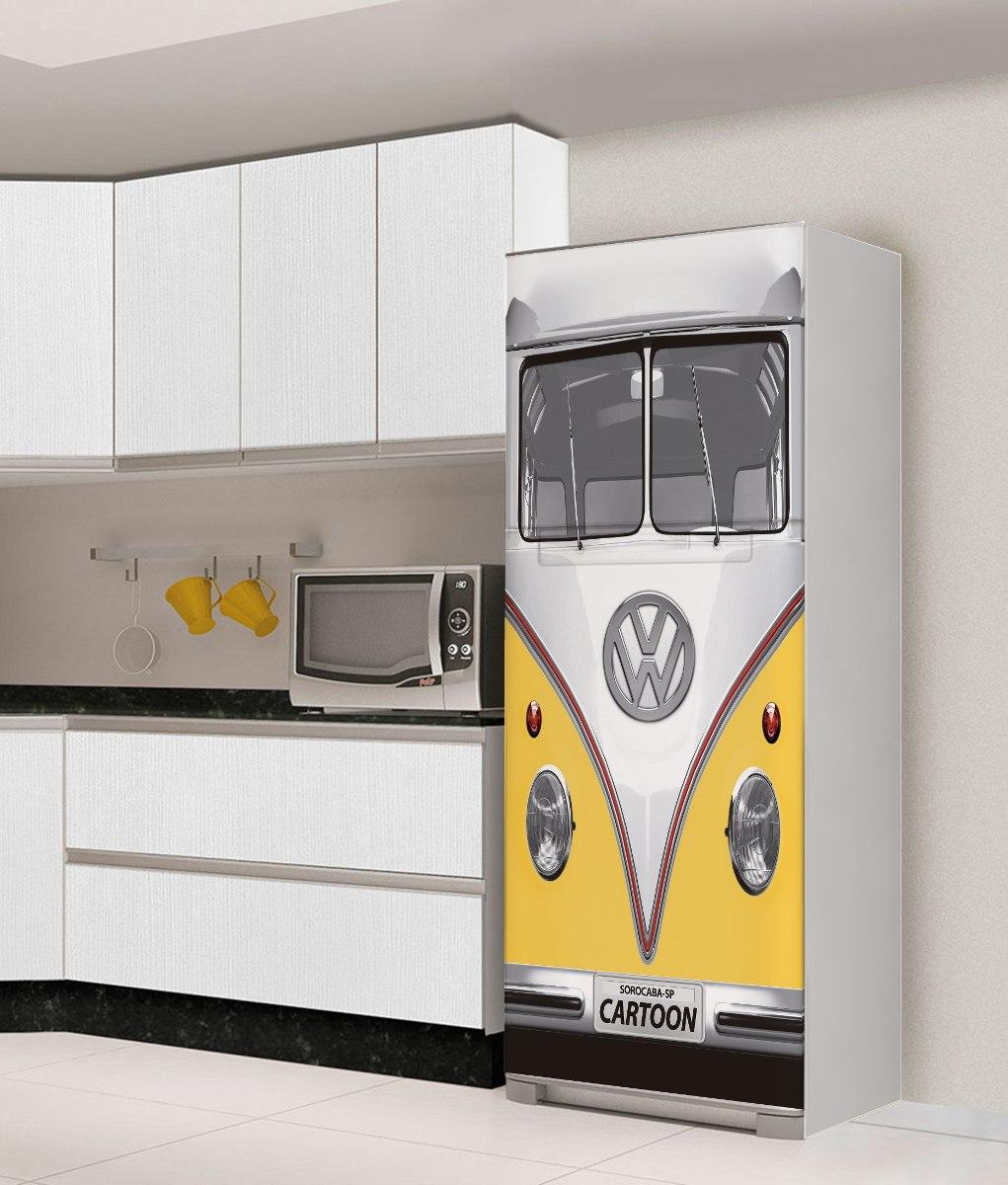 Adesivo De Kombi ~ Adesivo Geladeira Freezer Envelopamento Kombi Fusca Vw Retro R$ 129,00 em Mercado Livre