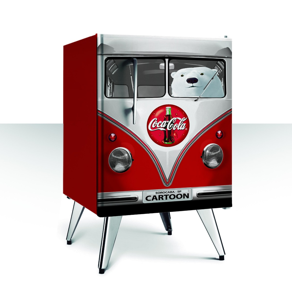 Armario Sob Medida Para Cozinha ~ Adesivo Geladeira Frigobar Kombi Freezer Retro Vw Coca Cola R$ 149,00 em Mercado Livre