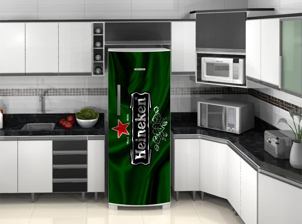 Aparador Ikea Blanco ~ Adesivo Geladeira Heineken Logo Bandeira R$ 68,98 em Mercado Livre