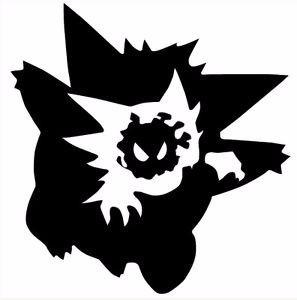 adesivo gengar evolution pokemon nintendo