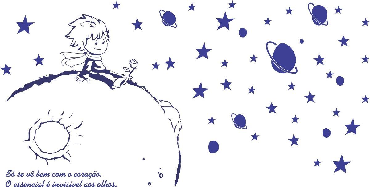 Quarto Infantil O Pequeno Principe ~ Adesivo Gigante O Pequeno Principe Para Decora??o De Quarto  R$ 125