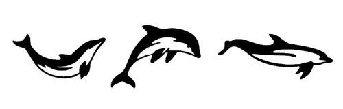 adesivo gigante para parede golfinhos