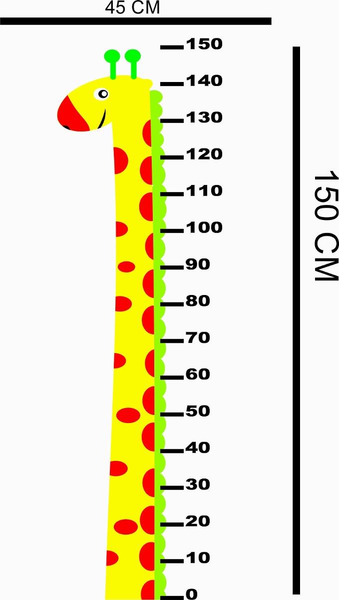 bf2dccc60 adesivo girafa amarela regua do crescimento. Carregando zoom.