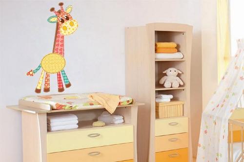 adesivo girafa de retalhos - mudo minha casa
