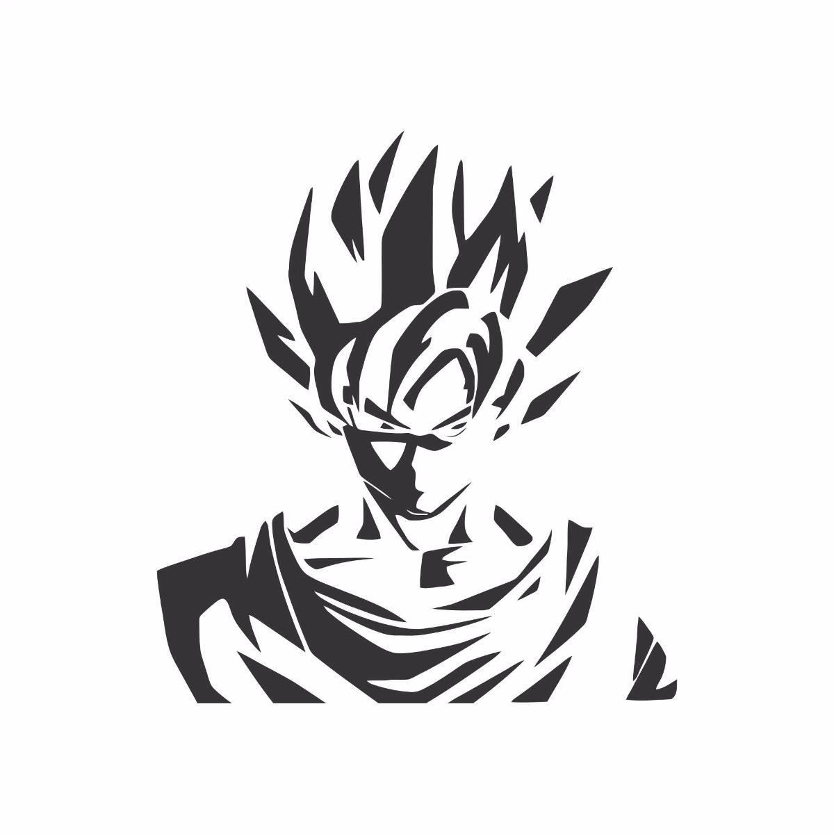 Dragon Ball R R Manga: Adesivo Goku Dragon Ball Anime Manga Dragon Ball 10x11cm