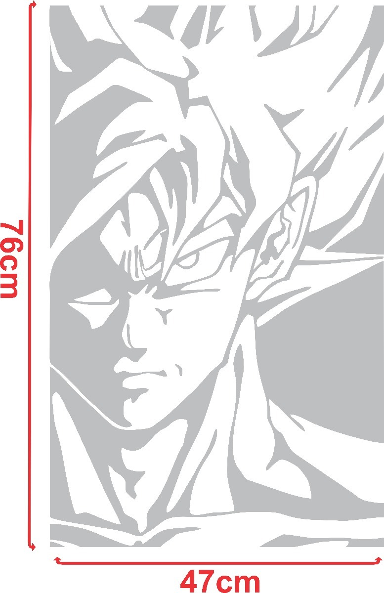 Adesivo Goku Dragon Ball Z Super Sayajin Desenho