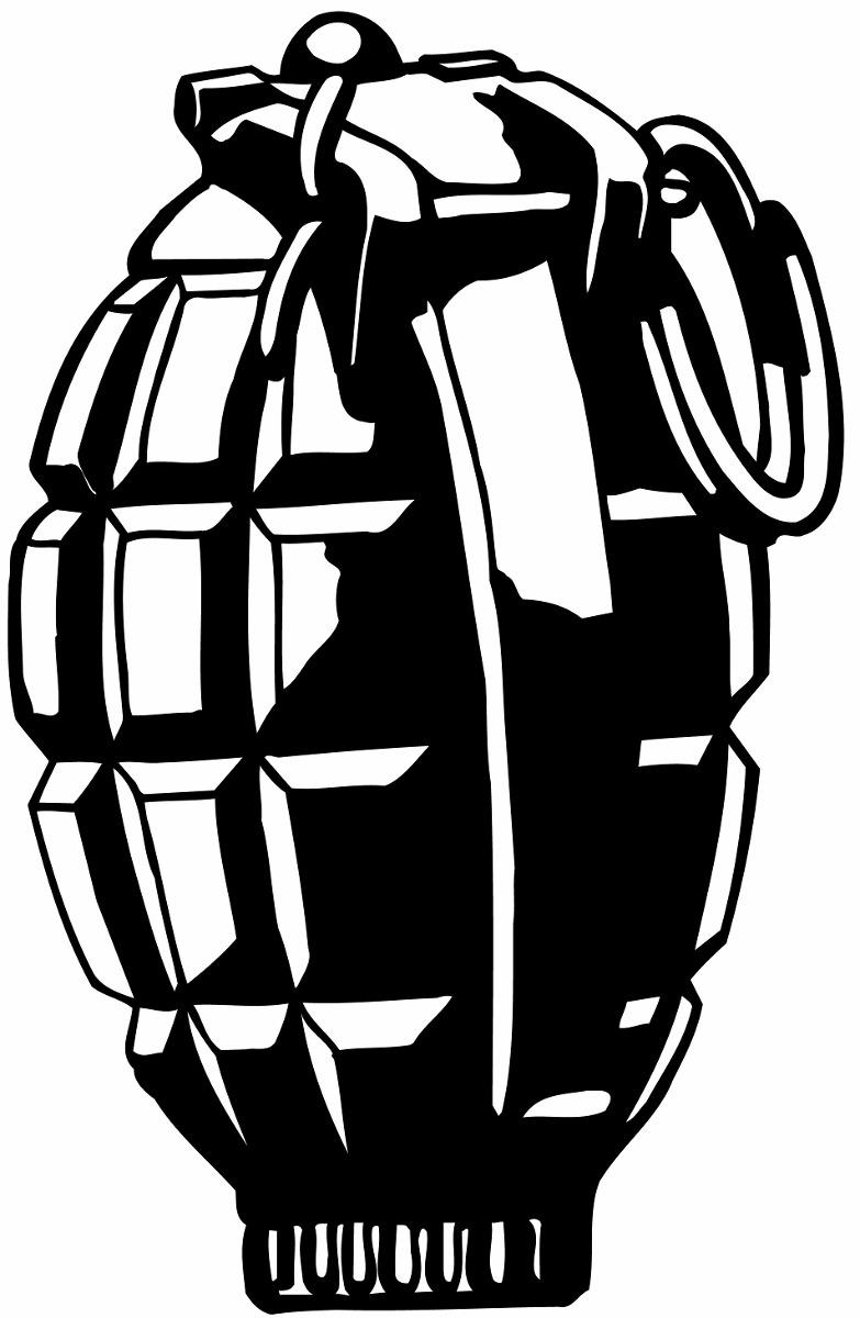 Adesivo Granada Bomba Para Decorar Parede Frete Gratis R 29 90