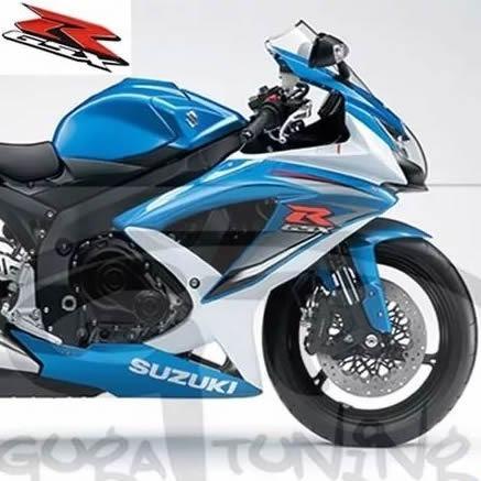 adesivo gsxr 750 srad 2011 azul e branca mat importado