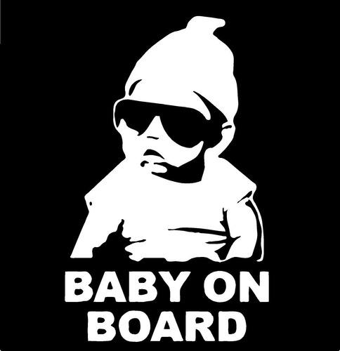 adesivo hangover carlos baby on board - se beber não case