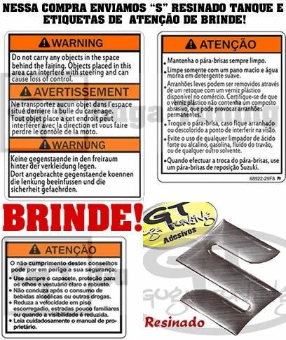 adesivo hayabusa ano 2005 não impresso material oracal