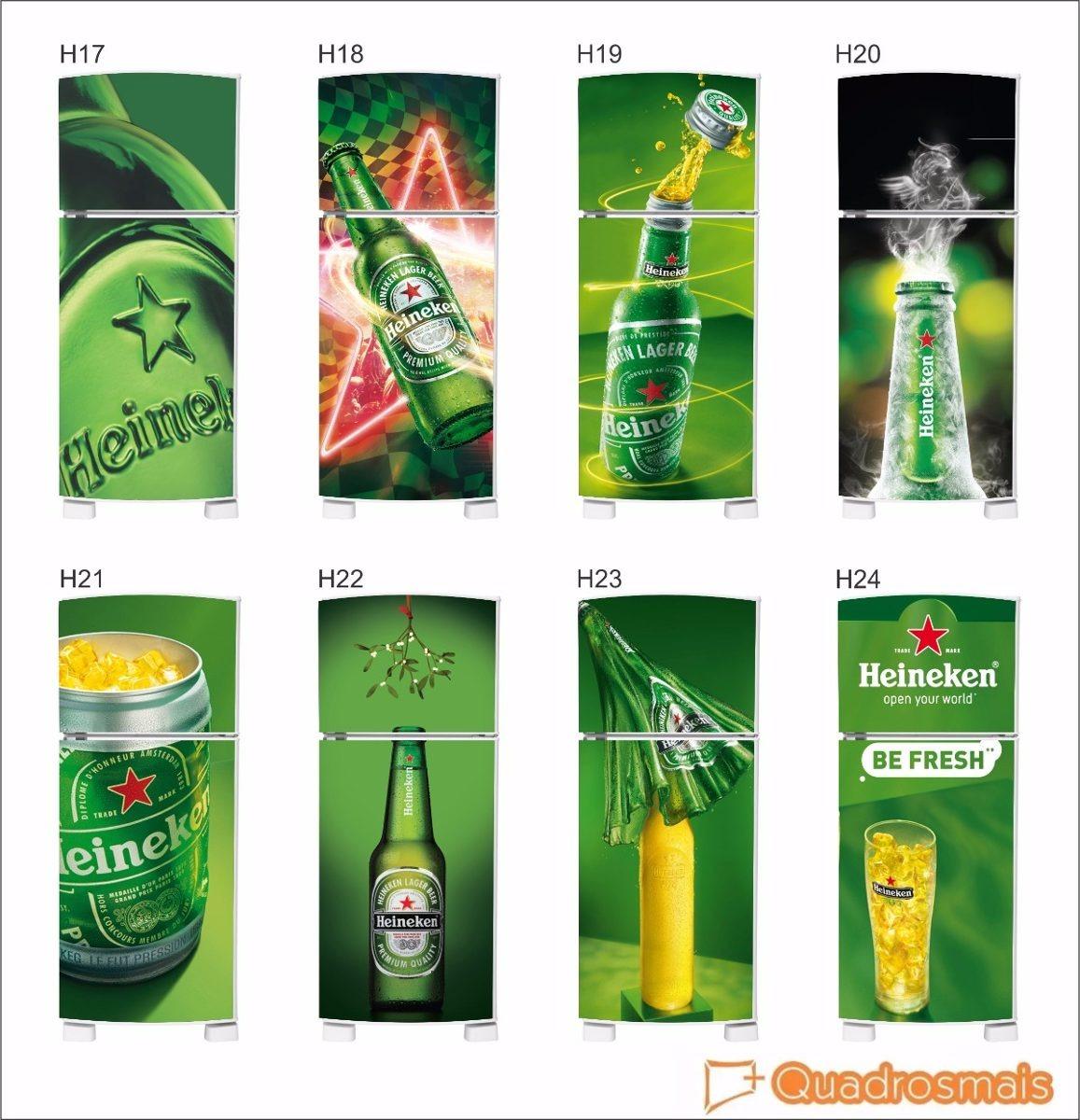 Armario Planejado Para Cozinha Pequena ~ Adesivo Heineken Para Envelopamento Geladeira Frete Grátis R$ 78,00 em Mercado Livre