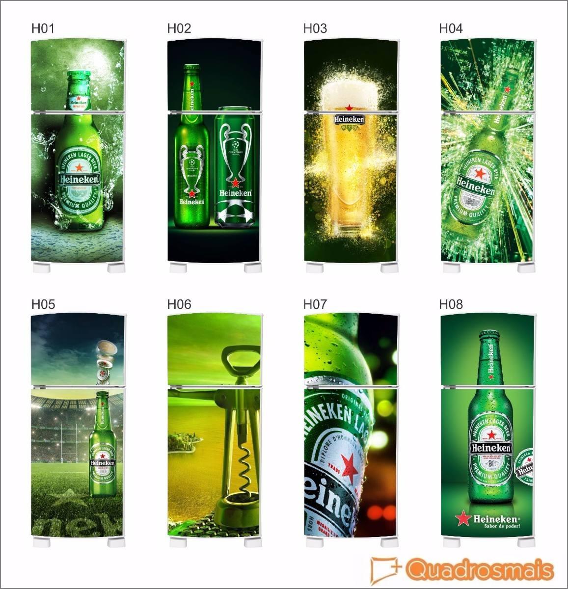 Aparador Sa Tagalog ~ Adesivo Heineken Para Envelopamento Geladeira Frete Grátis R$ 78,00 em Mercado Livre