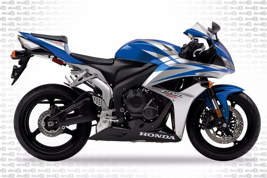 Adesivo Honda Cbr 600rr 2007 Azul Prata Kit Hd600r07az R 55000