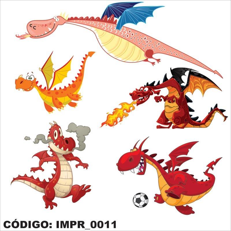 Aparador Tabaco ~ Adesivo Imp11 Infantil Animais Dragao Com Asas Cospe Fogo R$ 86,18 em Mercado Livre