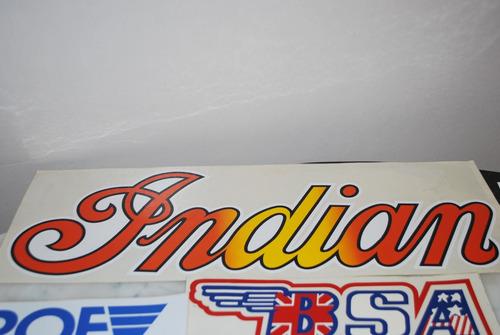 adesivo indian motorcycles original gigante antigo