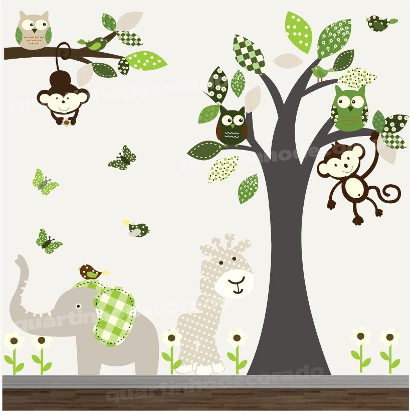 Adesivo Safari ~ Adesivo Infantil Arvore Safari Decorativo Parede Bebe Zoo R$ 148,00 em Mercado L