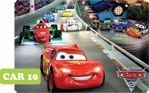 adesivo infantil carros cars - paredes guarda roupas com 2m²