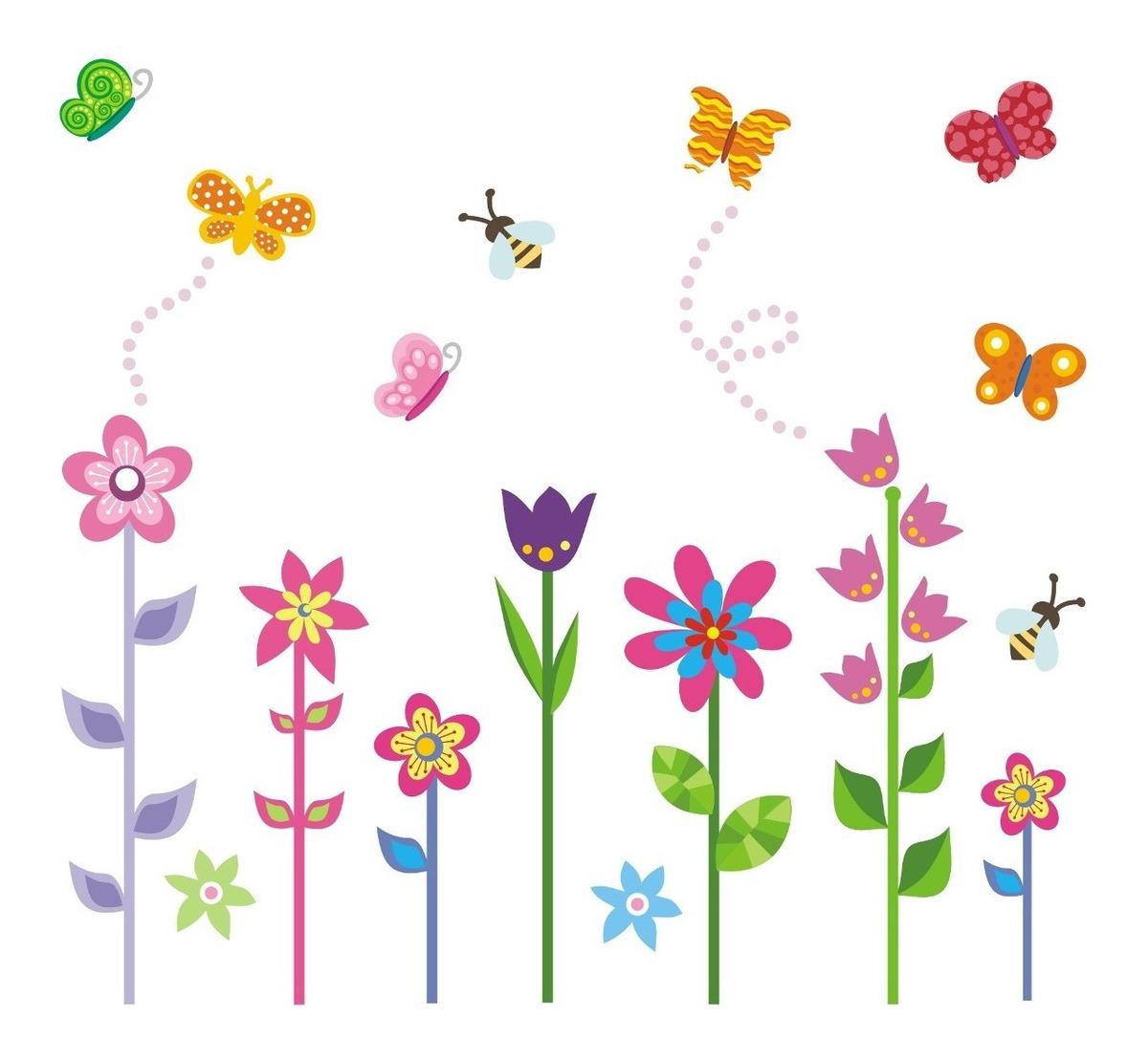 Adesivo Infantil Decorativo Quarto Menina Borboleta Bebe Flores