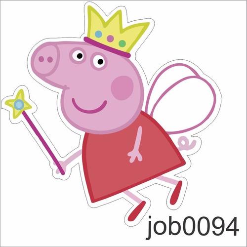 adesivo infantil desenho peppa pig fadinha job0094