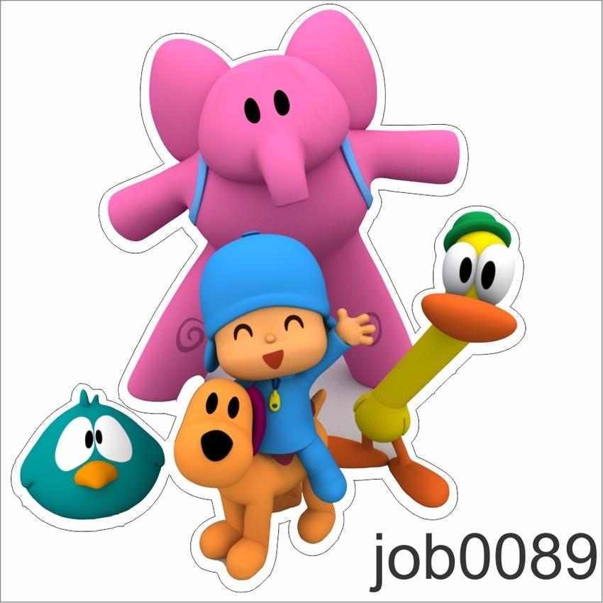 Adesivo Infantil Desenho Pocoyo E Sua Turma Job0089 R 64 99 Em