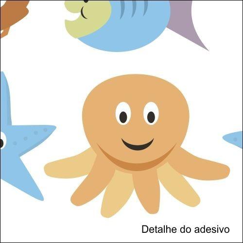 adesivo infantil fundo do mar