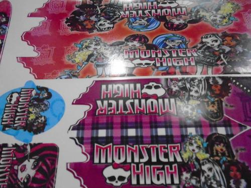 adesivo infantil monster high vermelho.