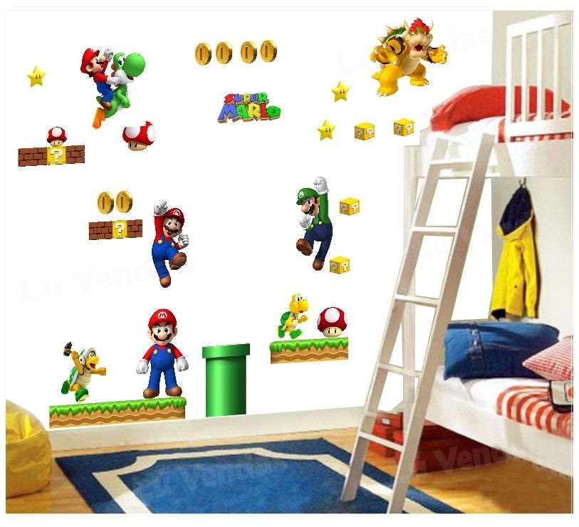 Adesivo Emagrecedor Funciona ~ Adesivo Super Mario Bros Infantil Papel Parede C 28 Peças R$ 99,00 em Mercado Livre