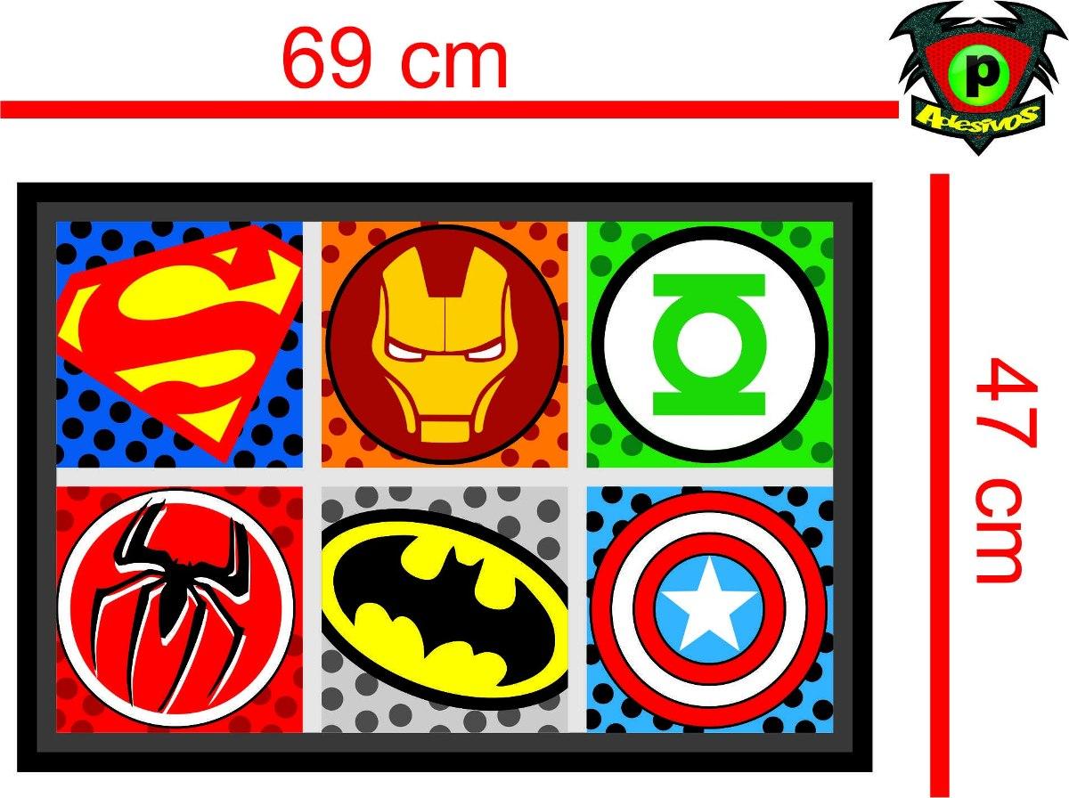 Armario Keter Para Exteriores ~ Adesivo Decorativo Infantil Super Herois Escudos Parede