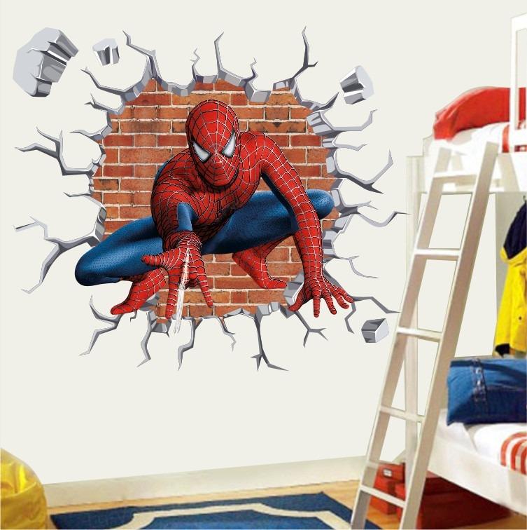 Adesivo Homem Aranha Infantil Papel Parede Herois Buraco
