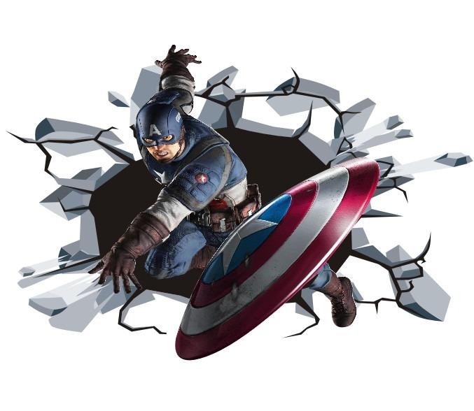 Aparador Tv ~ Adesivo Infantil Parede Avengers Vingadores Capitao America R$ 54,90 em Mercado Livre