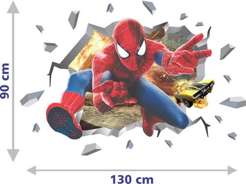 adesivo infantil parede herois vingadores aranha
