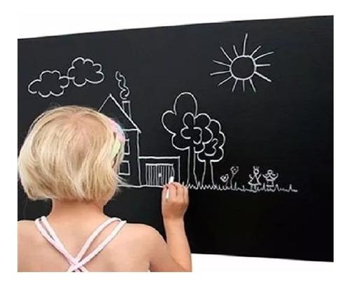 adesivo infantil parede lousa quadro negro 2m x 1m + giz