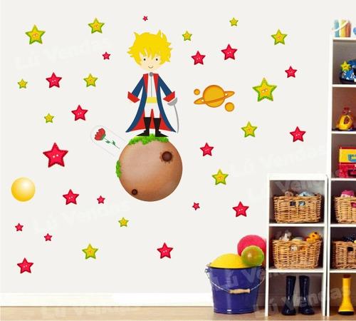 adesivo infantil pequeno príncipe papel parede quarto menino