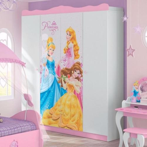 adesivo infantil princesas - quartos -  guarda roupas
