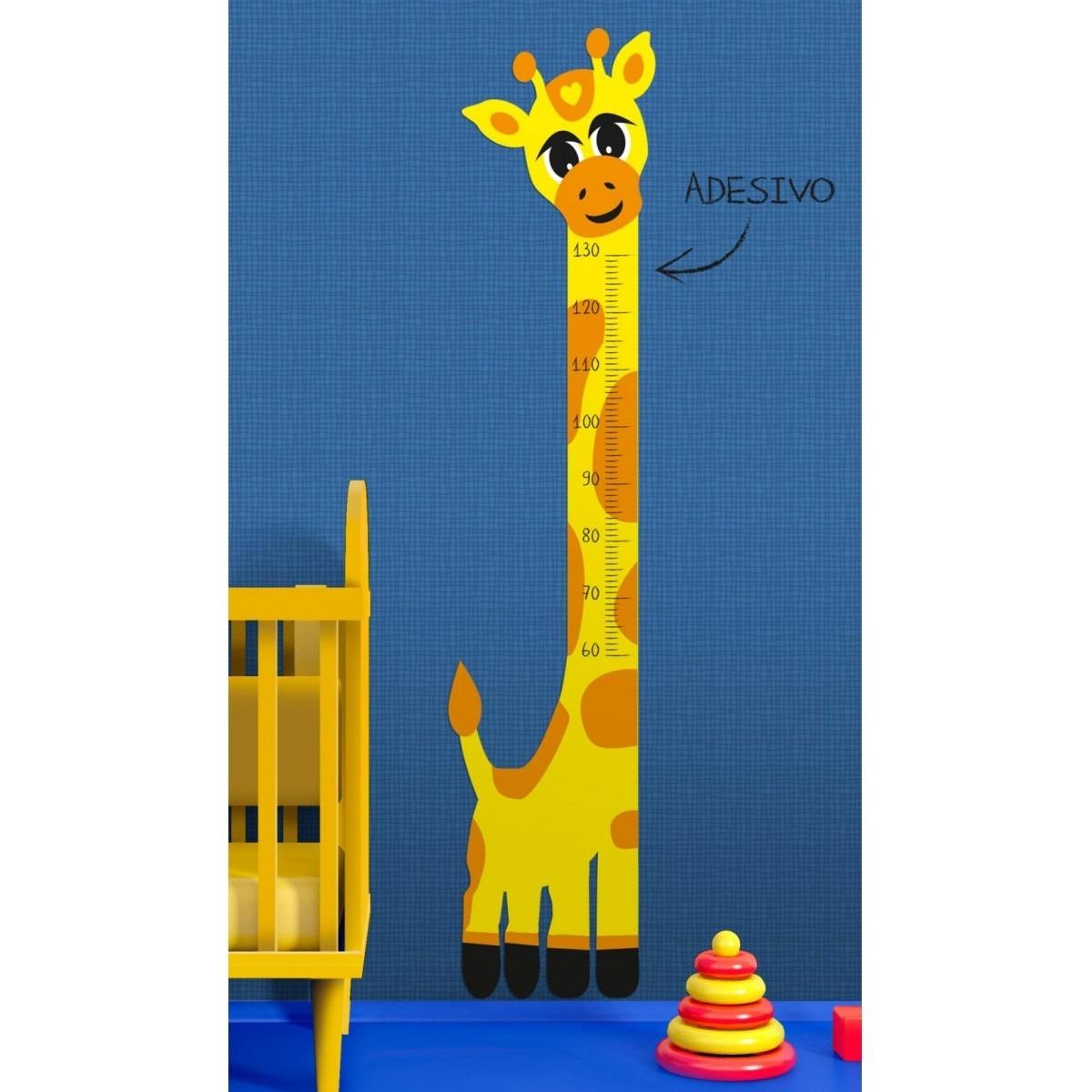 53d35747c adesivo infantil régua do crescimento girafa amarela zoo. Carregando zoom.