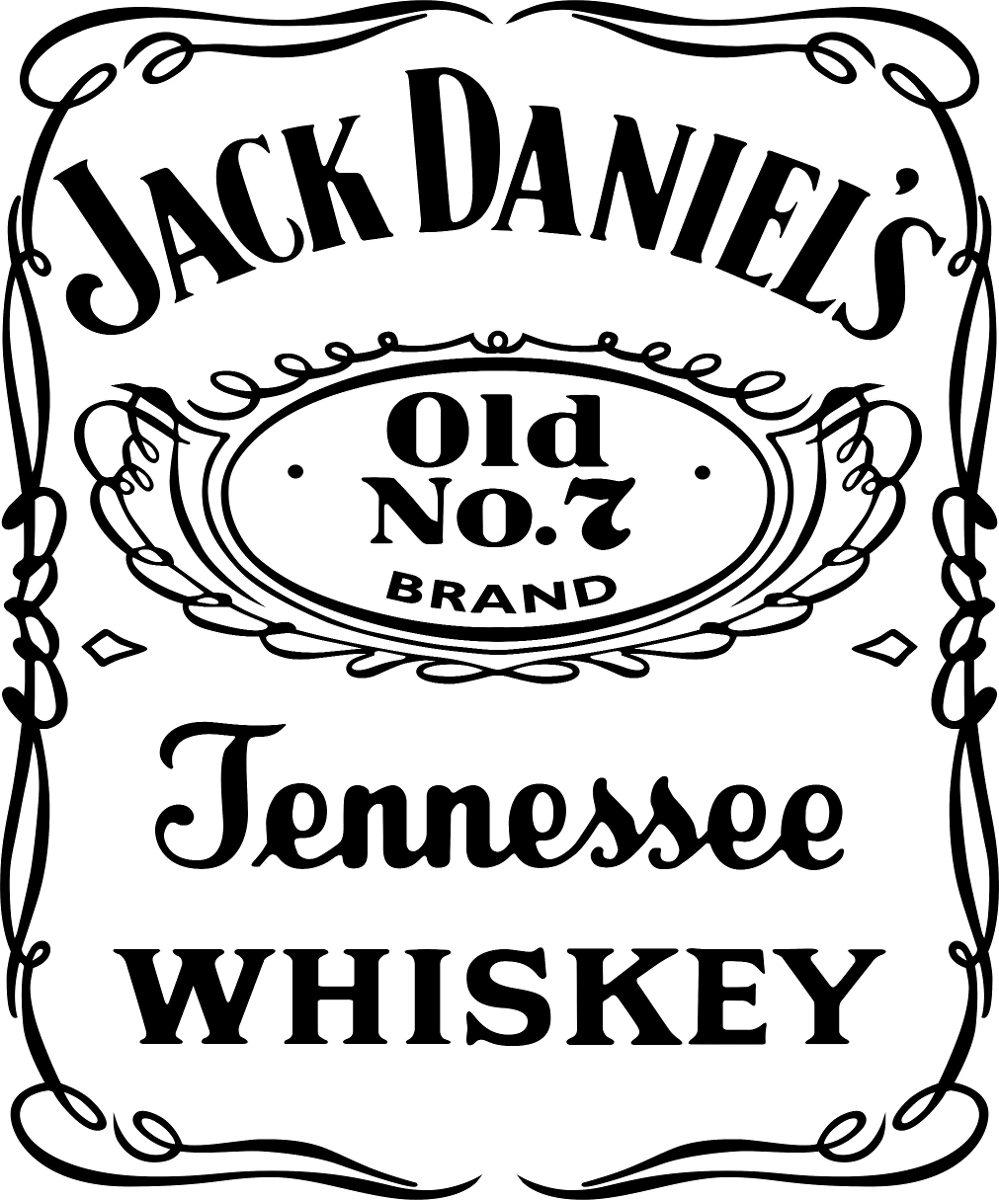 Artesanato Em Ubatuba ~ Adesivo Jack Daniels Tamanho Personalizado Até 80cm Recorte R$ 29,90 em Mercado Livre