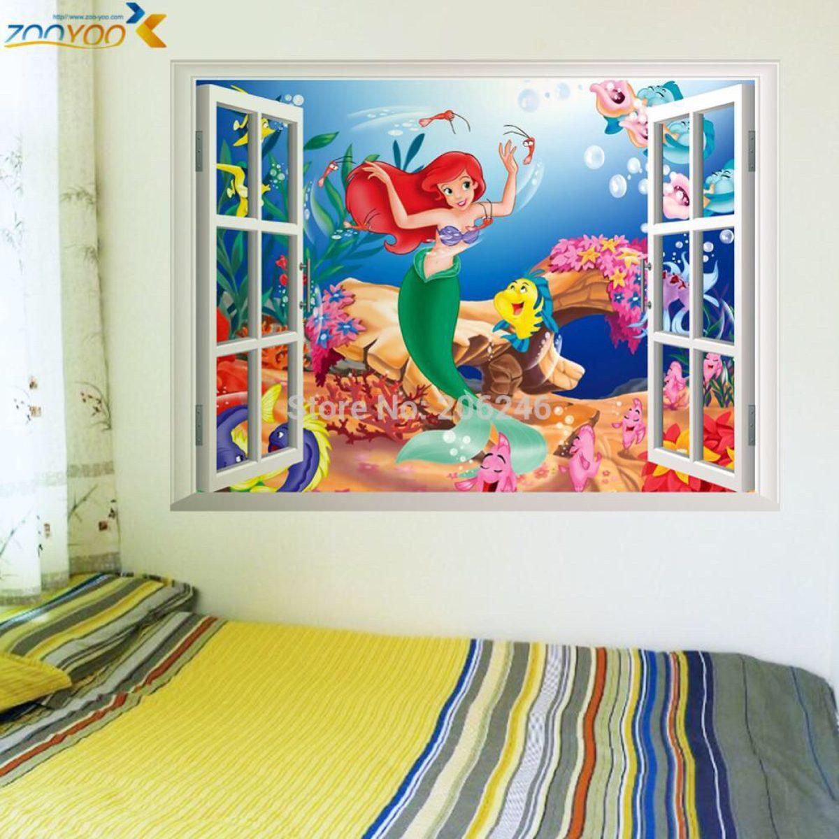 Armario Oficina Con Llave Ikea ~ Adesivo Janela Falsa Pequena Sereia R$ 69,00 em Mercado Livre
