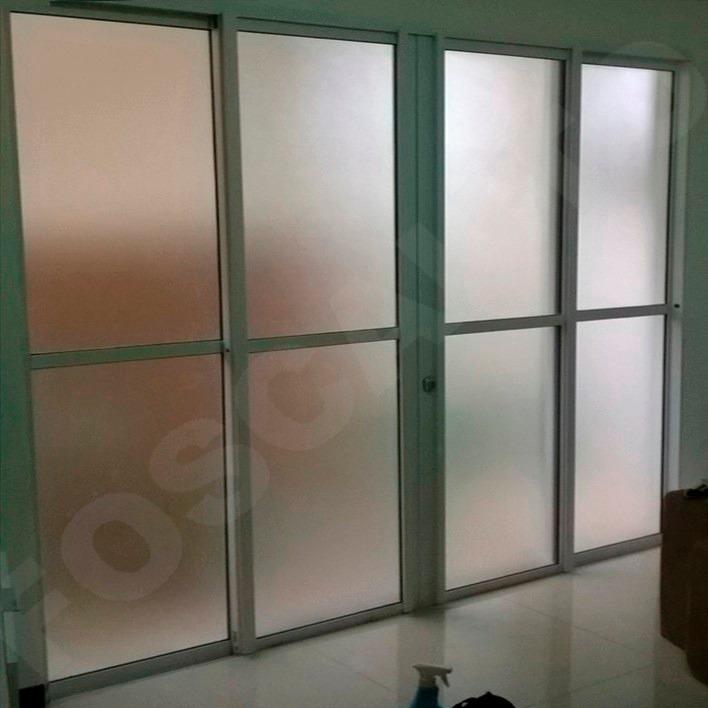 Adesivo jateado box banheiro janela vidro porta 1m x 60cm for Adesivos p porta de vidro