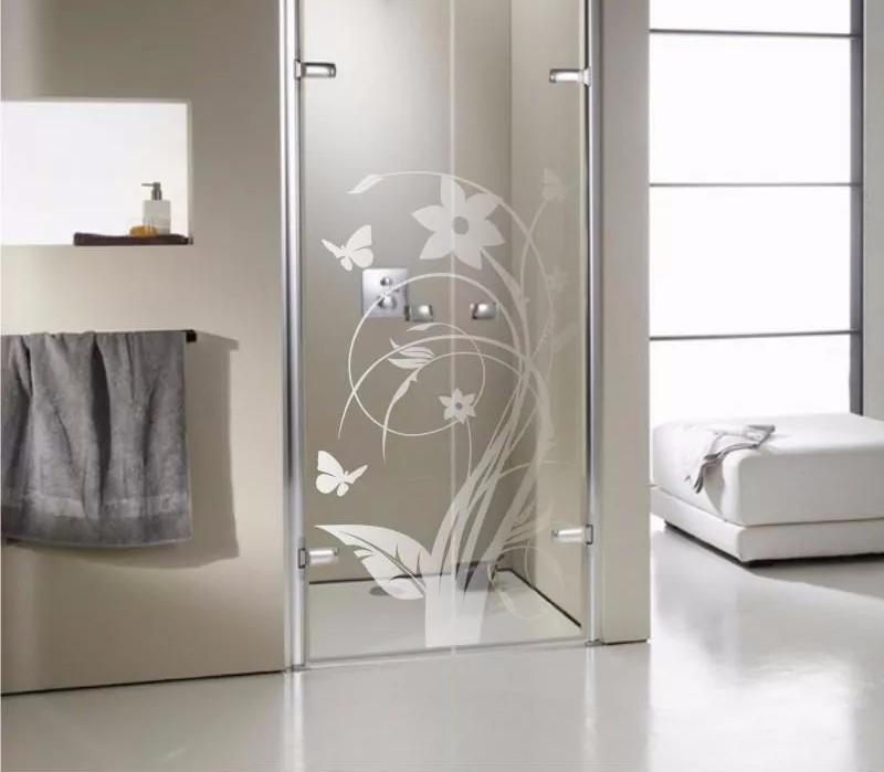 Adesivo Jateado Box De Banheiro Janela Porta Blindex Vidro