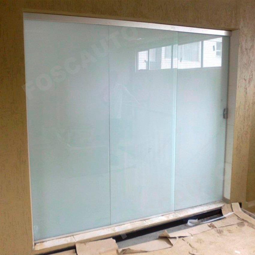 Adesivo Jateado Branco Leitoso Box Banheiro Janelas De Vidro  R$ 39,00 em Me -> Armario De Banheiro Com Vidro Jateado