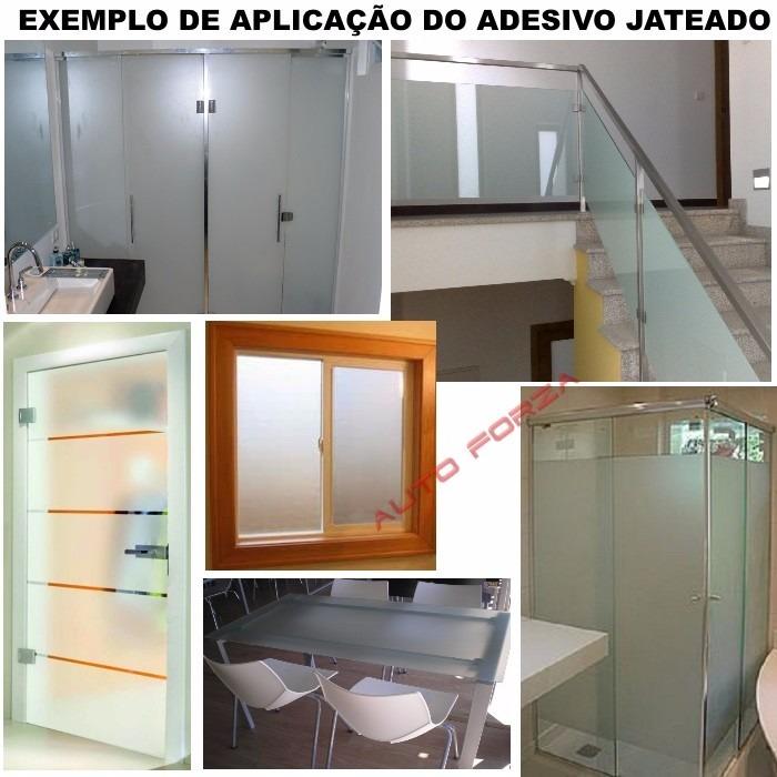 Artesanato De Croche Tapetes ~ Adesivo Jateado Decorativo P Vidro Box Janela Porta