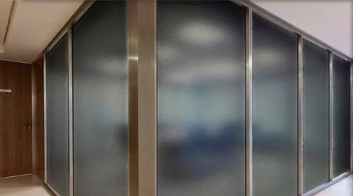 adesivo jateado fume p/ box banheiro janelas vidros 2mx1,22m