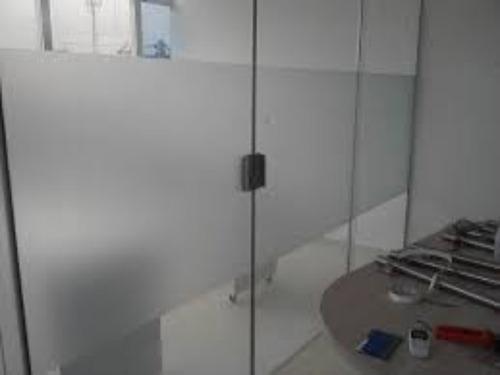 adesivo jateado para box banheiro janelas vidros 8m x 50cm