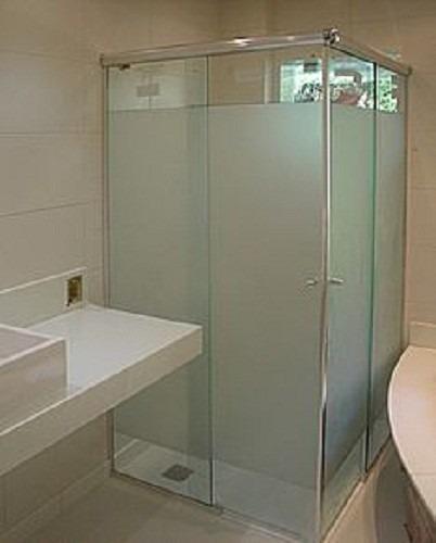 Adesivo jateado rolo 50m p vidro box janela porta for Adesivos p porta de vidro
