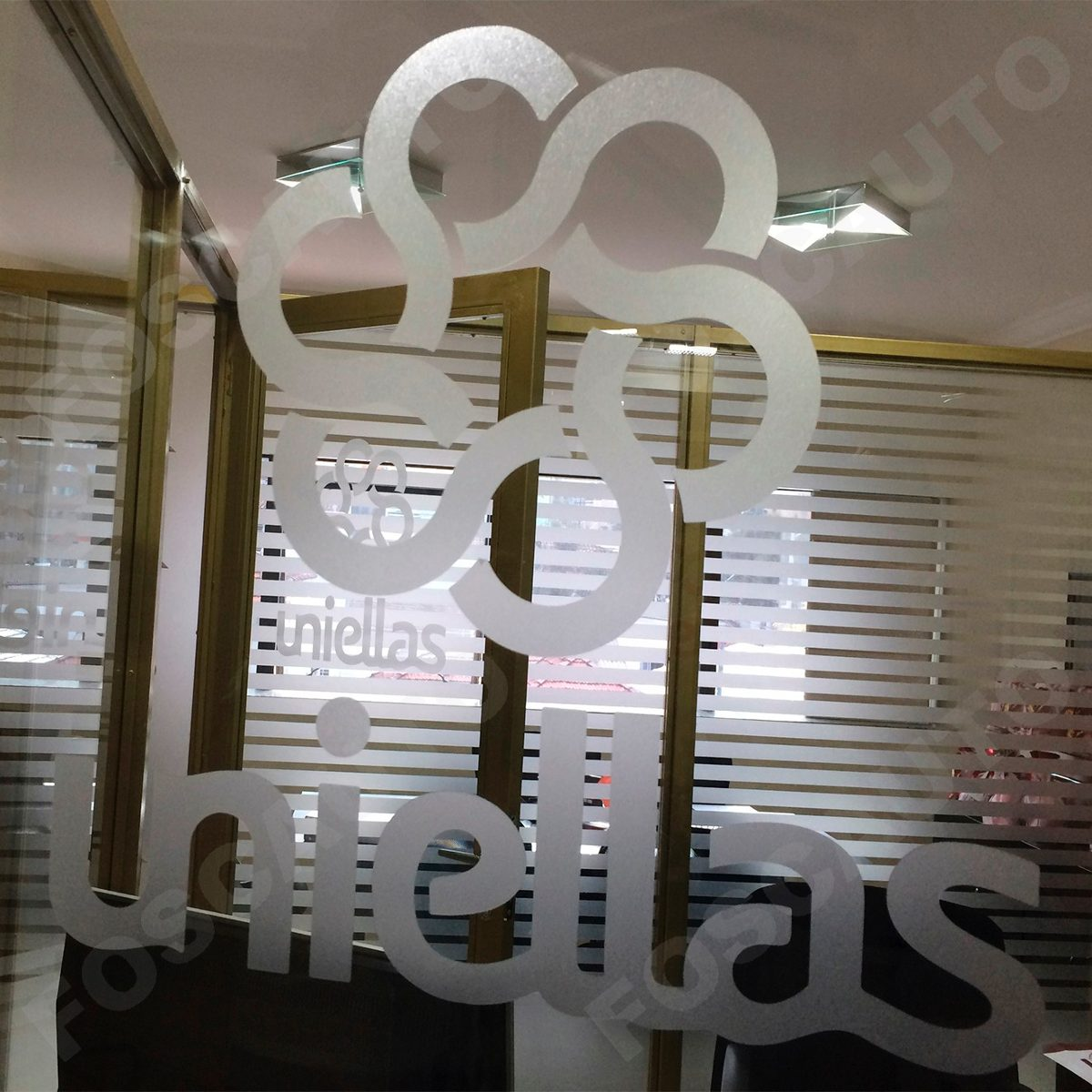 Artesanato Simples Com Eva ~ Adesivo Jateado Vidro Porta Fachada Logotipo Sua Empresa