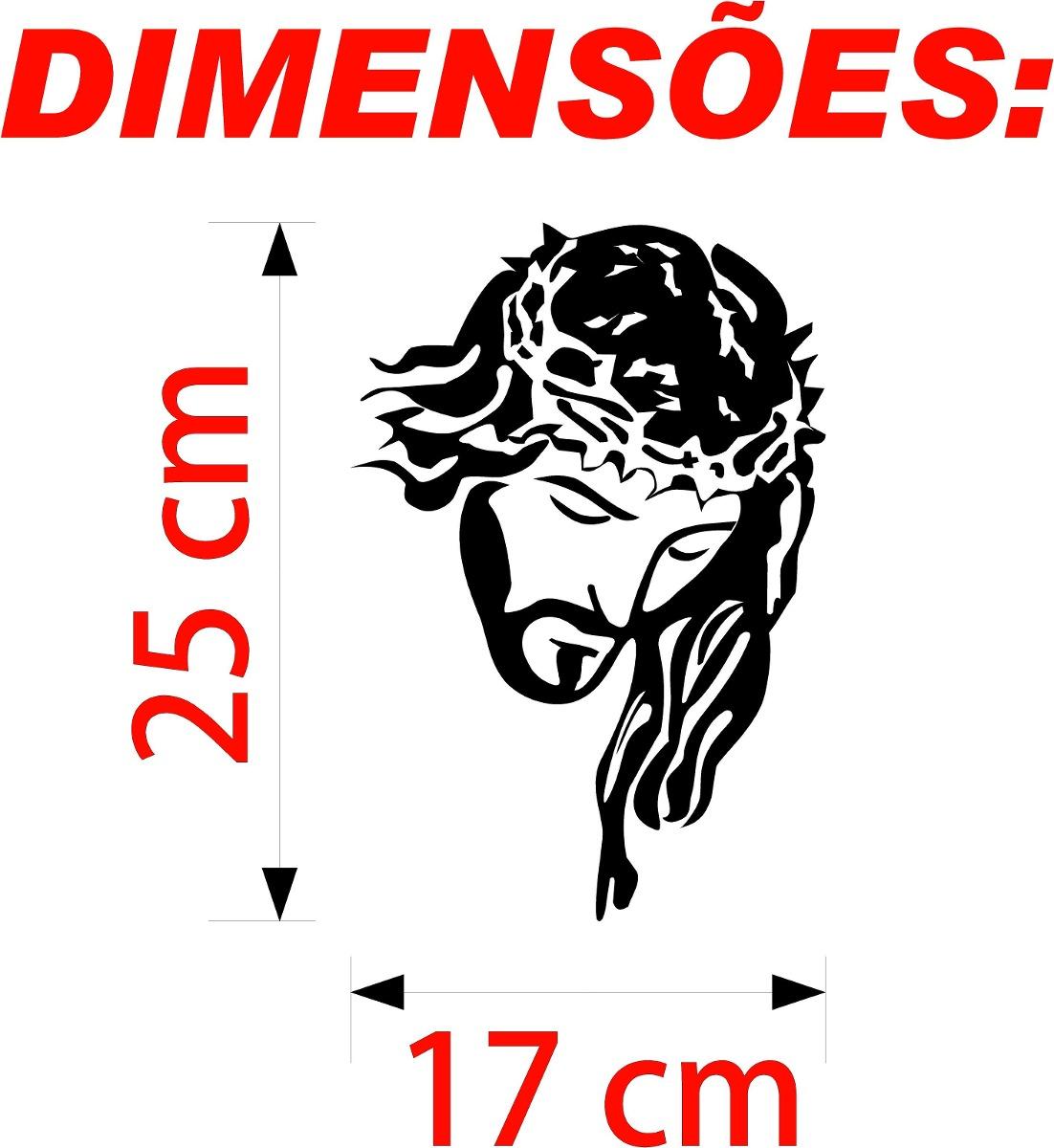 Adesivo Jesus Cristo Carro Caminh u00e3o Moto Casa Frete R$5,90 R$ 11,50 em Mercado Livre