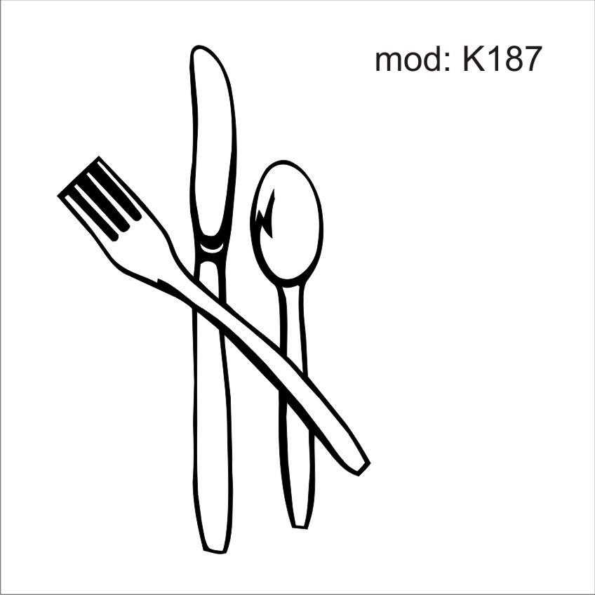 adesivo k187 utensilios de cozinha garfo faca colher