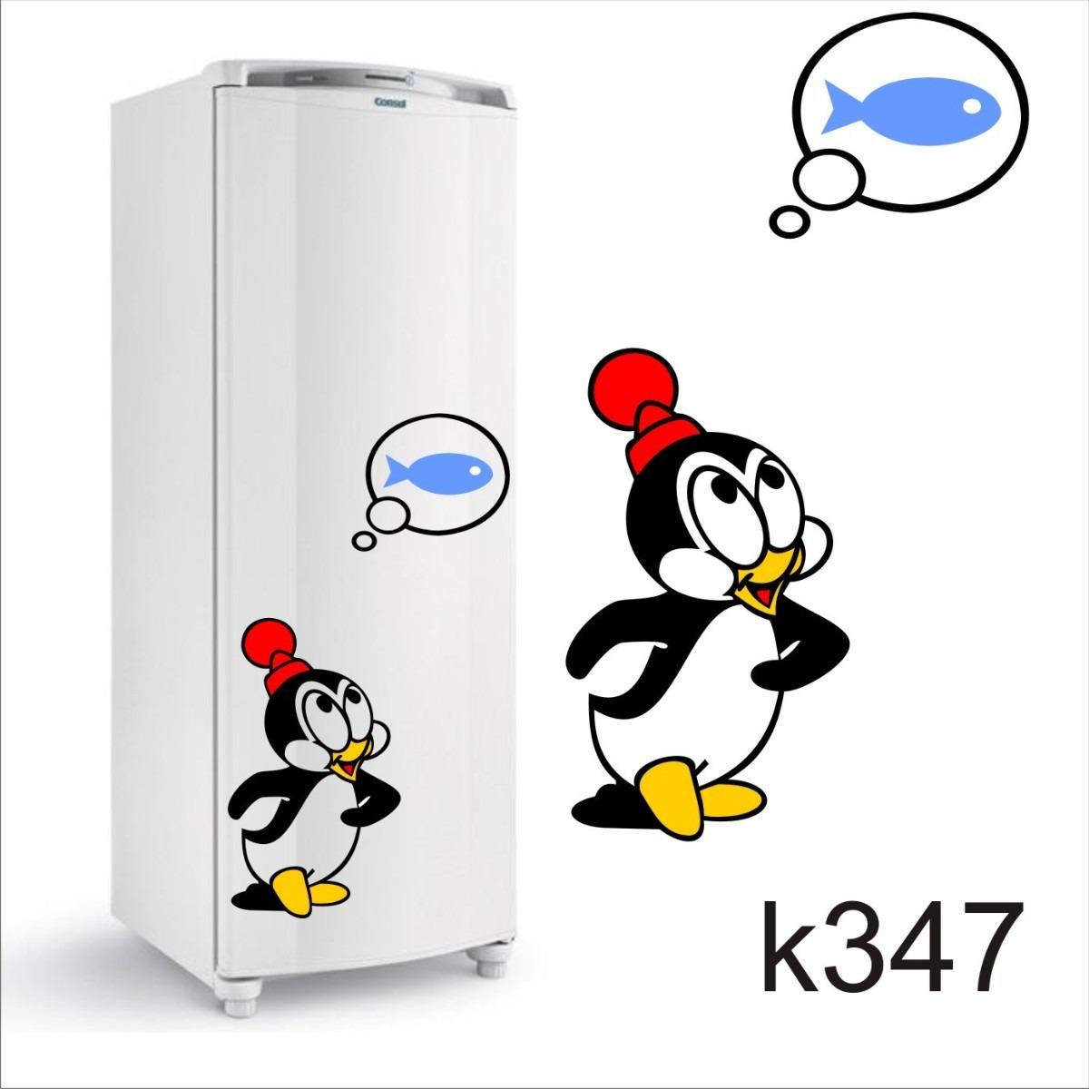 Aparador Em Mdf Com Gaveta ~ Adesivo K347 Adesivo Pinguim De Geladeira Picolino