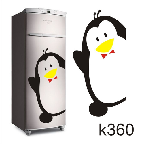 Aparador Em Mdf Com Gaveta ~ Adesivo K360 Adesivo Pinguim De Geladeira Macho Pai